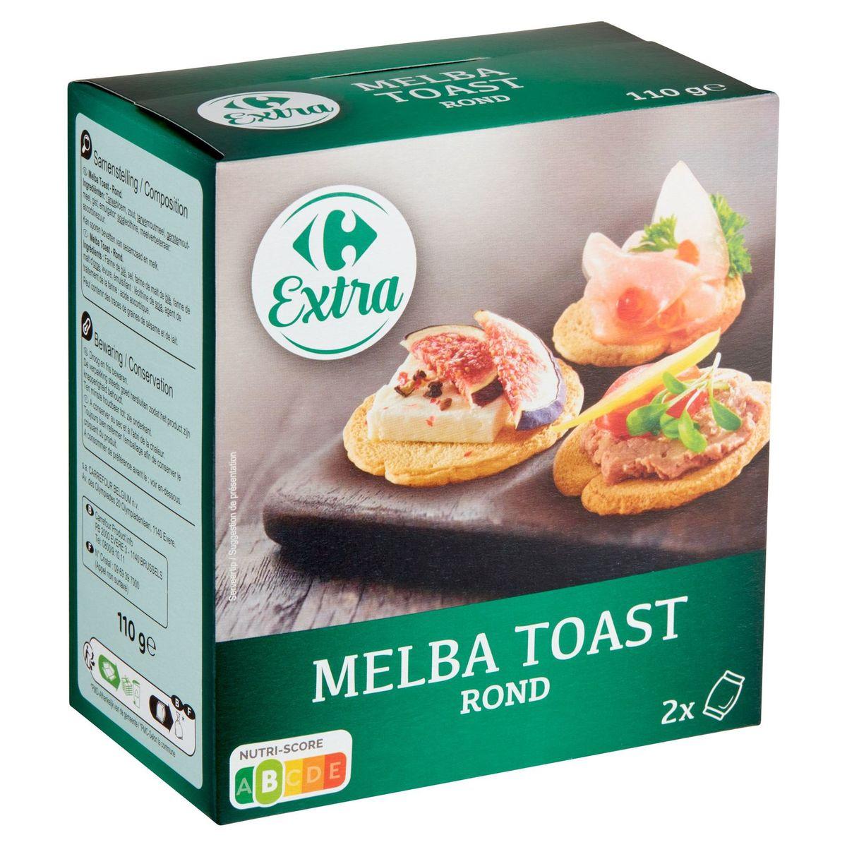 Carrefour Melba Toast Rond 2 Sachets 110 g