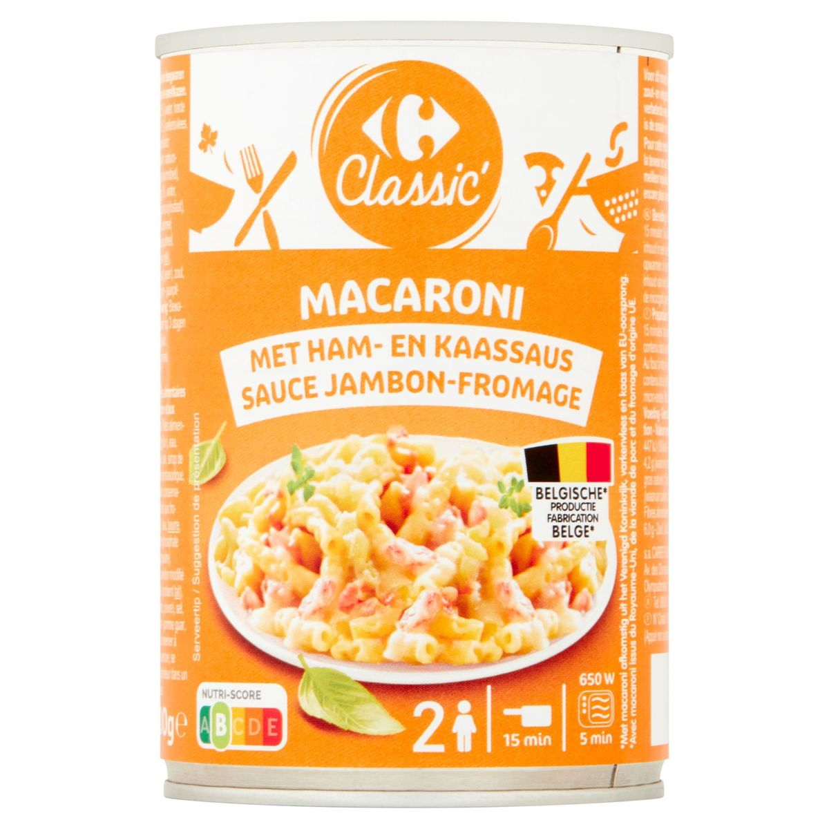 Carrefour Classic' Macaroni Sauce Jambon-Fromage 400 g