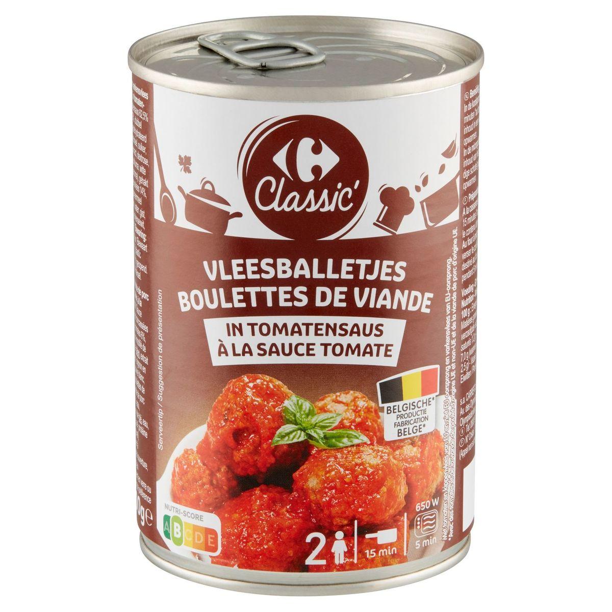 Carrefour Classic' Boulettes de Viande à la Sauce Tomate 400 g