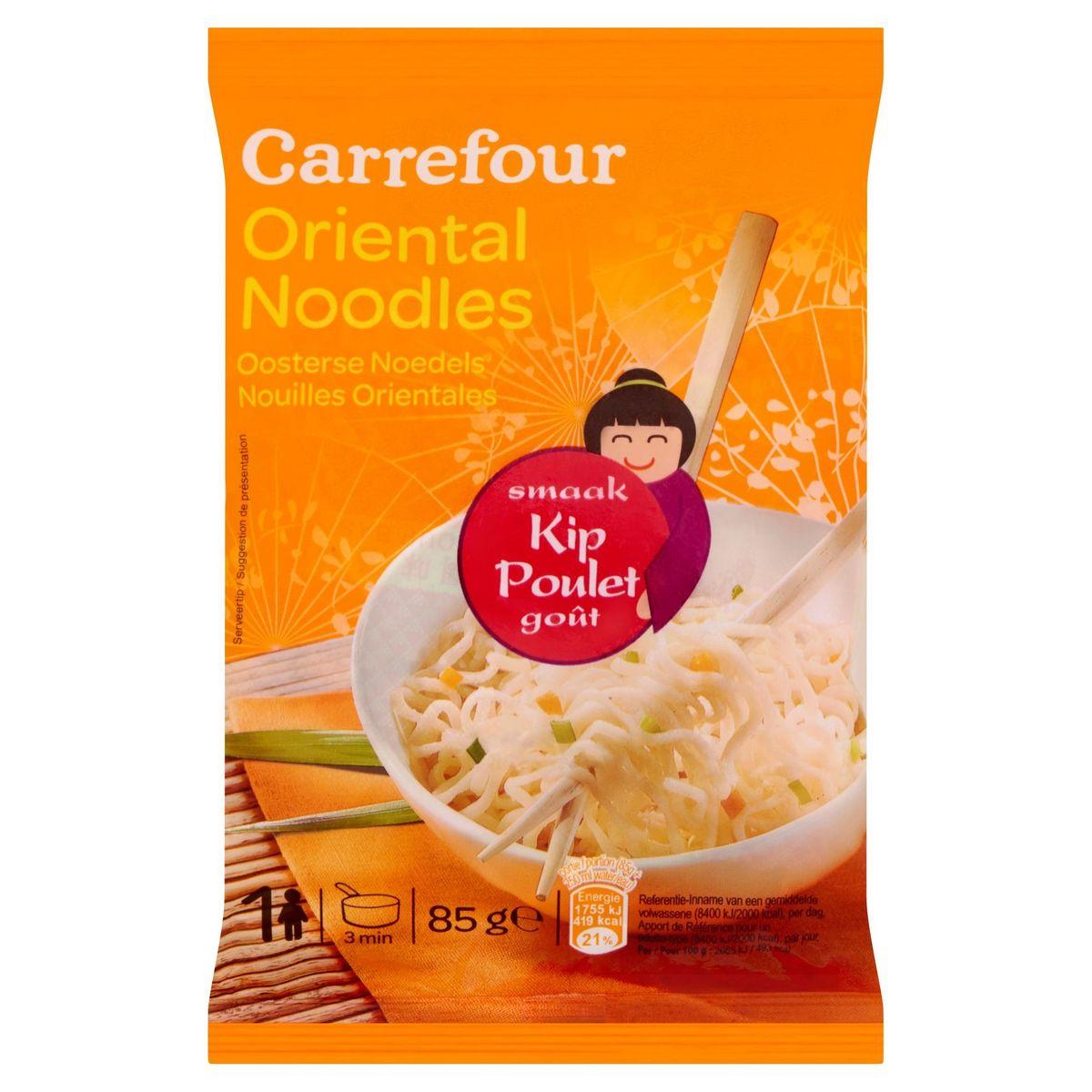 Carrefour Nouilles Orientales Poulet Goût 85 g