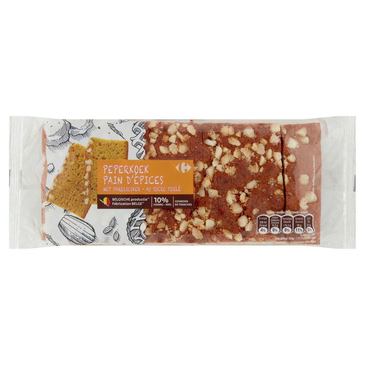 Carrefour Couque au Miel au Sucre Perlé en Tranches 500 g