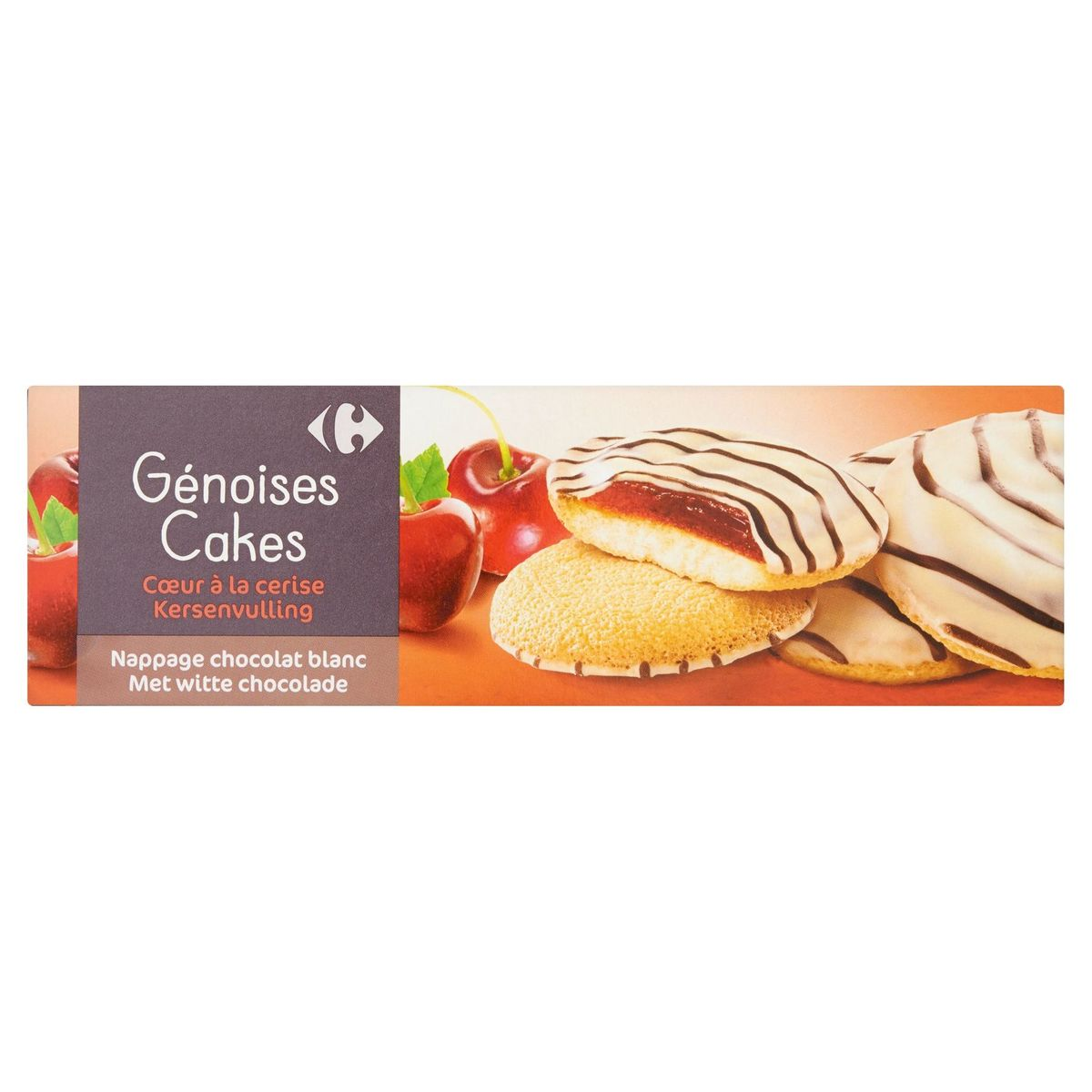 Carrefour Génoises Cakes Cœur à la Cerise 150 g