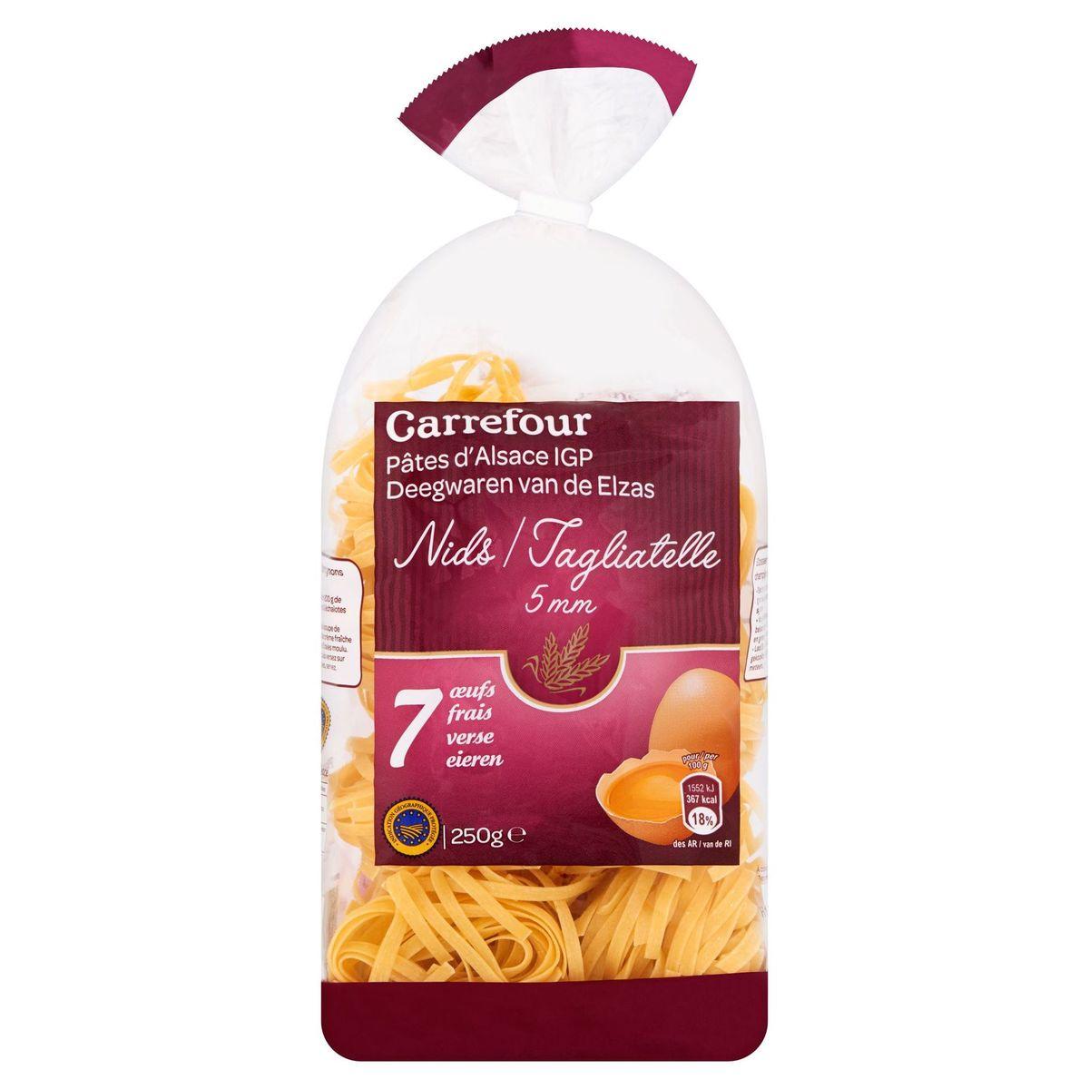 Carrefour Deegwaren van de Elzas Tagliatelle 7 Verse Eieren 5 mm 250 g