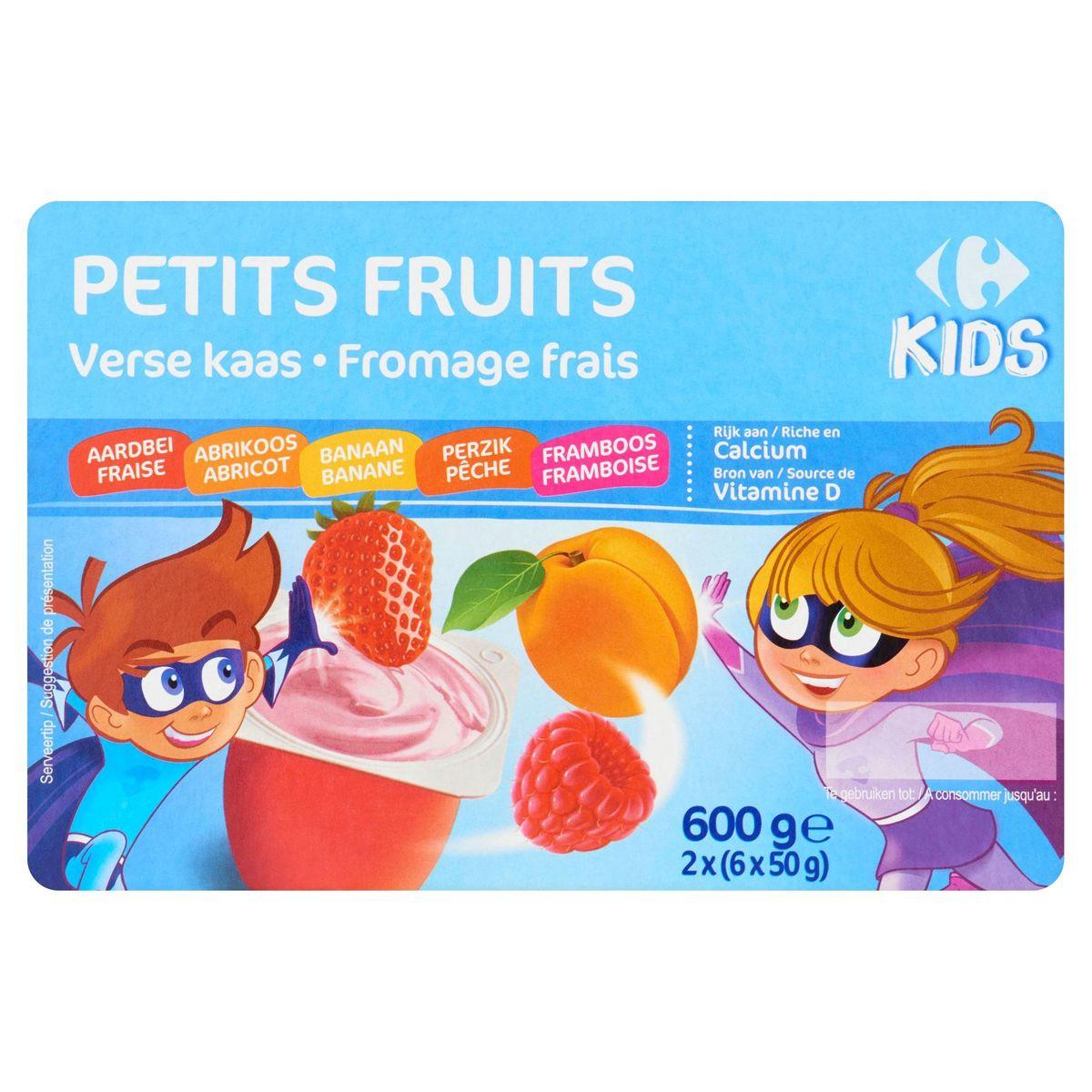 Carrefour Kids Petits Fruits Fromage Frais 2 x (6 x 50 g)
