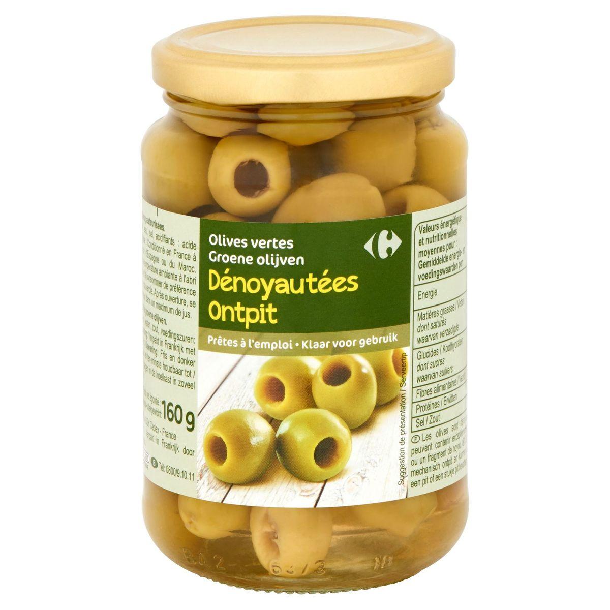 Carrefour Olives Vertes Dénoyautées 335 g
