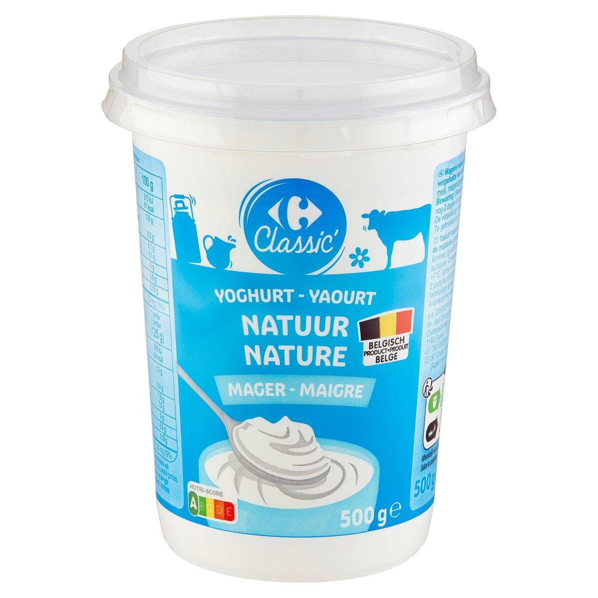 Carrefour Yaourt Nature Maigre 500 g