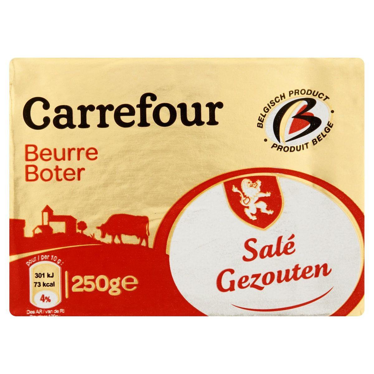 Carrefour Boter Gezouten 250 g