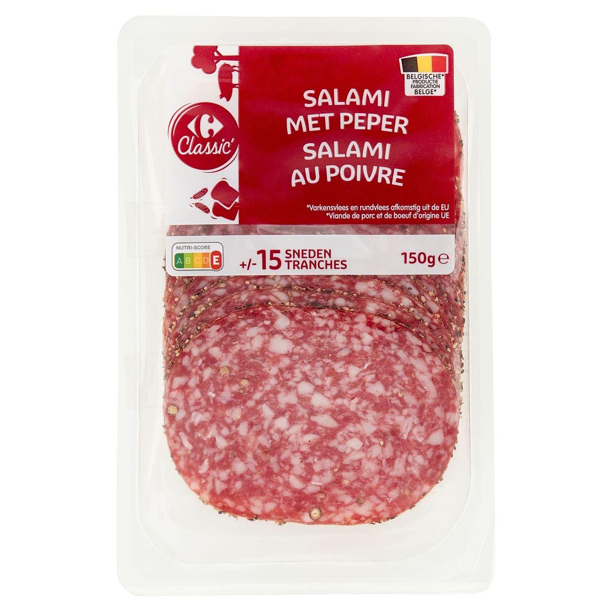 Carrefour Salami met Peper 150 g