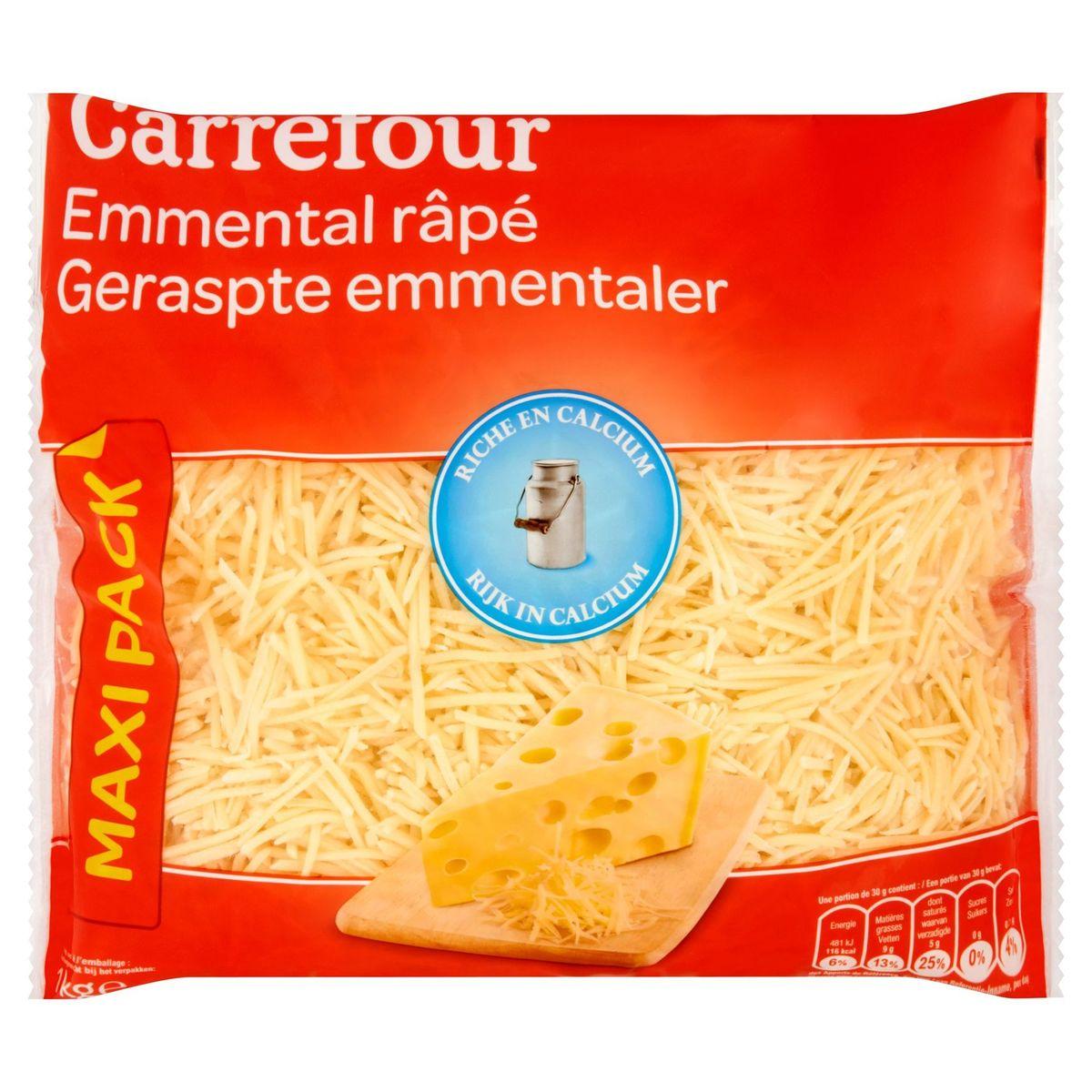 Carrefour Emmental Râpé Maxi Pack 1 kg