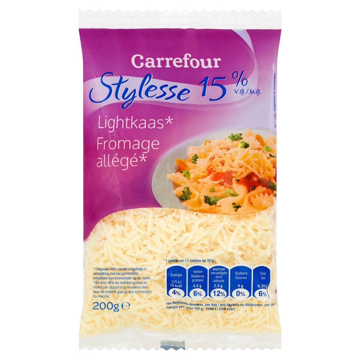 Carrefour Stylesse 15% M.G. Fromage Allégé 200 g