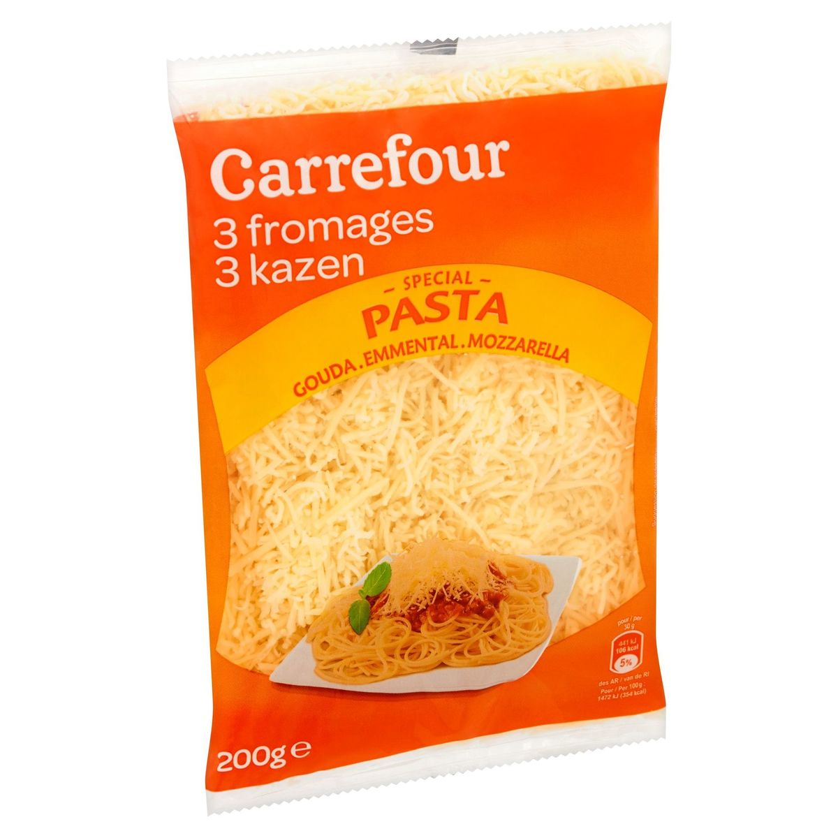 Carrefour Special Pasta 3 Fromages Gouda, Emmental, Mozzarella 200 g