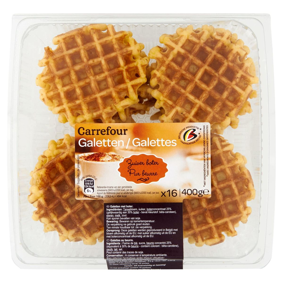 Carrefour 16 Galettes Pur Beurre 400 g