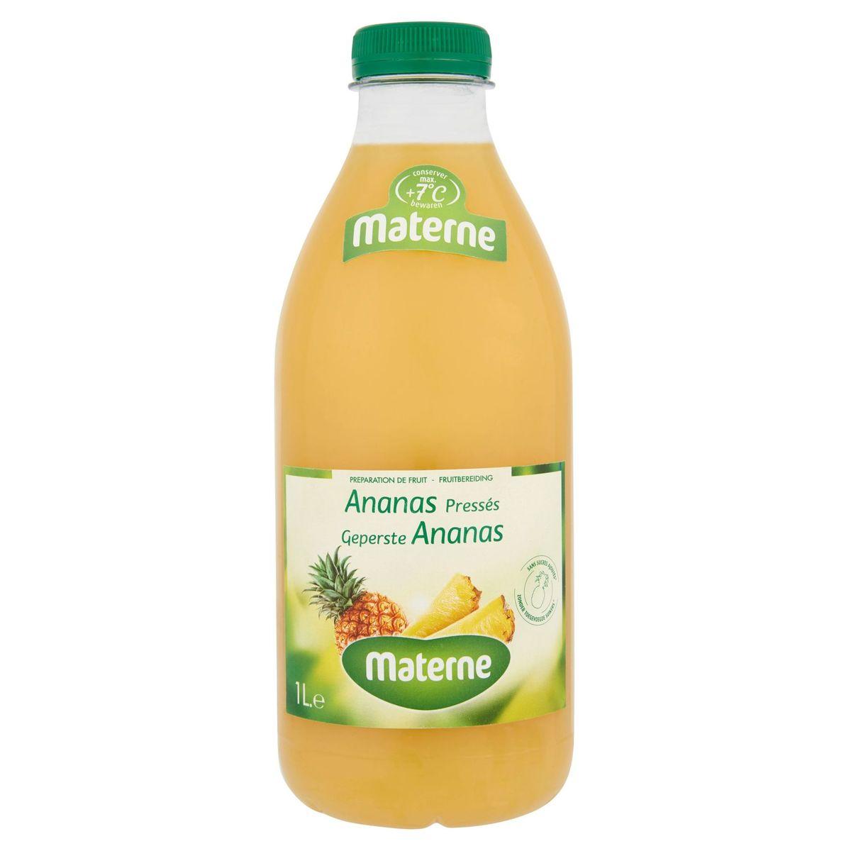 Materne Préparation de Fruit Ananas Pressés 1 L