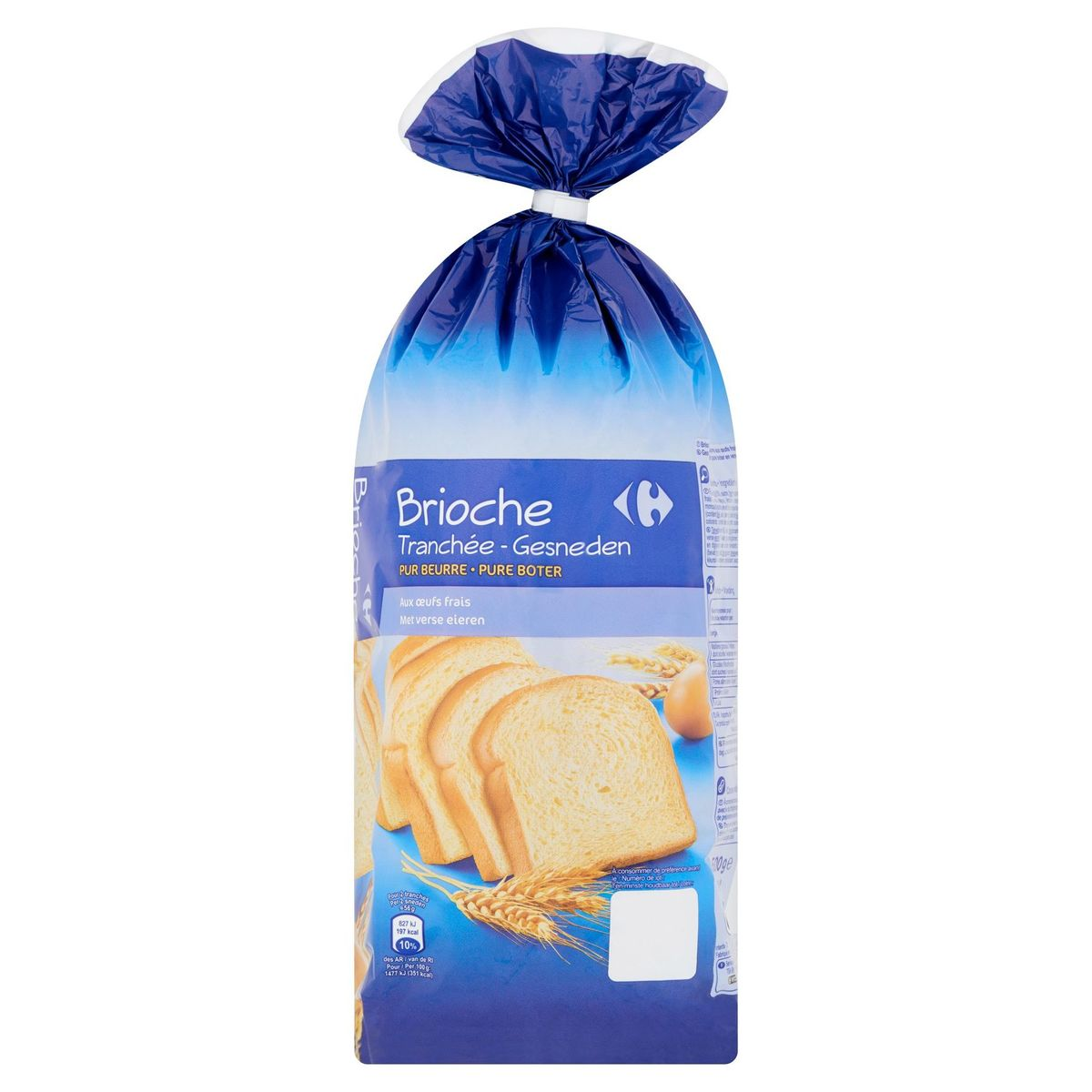 Carrefour Brioche Gesneden Pure Boter 500 g
