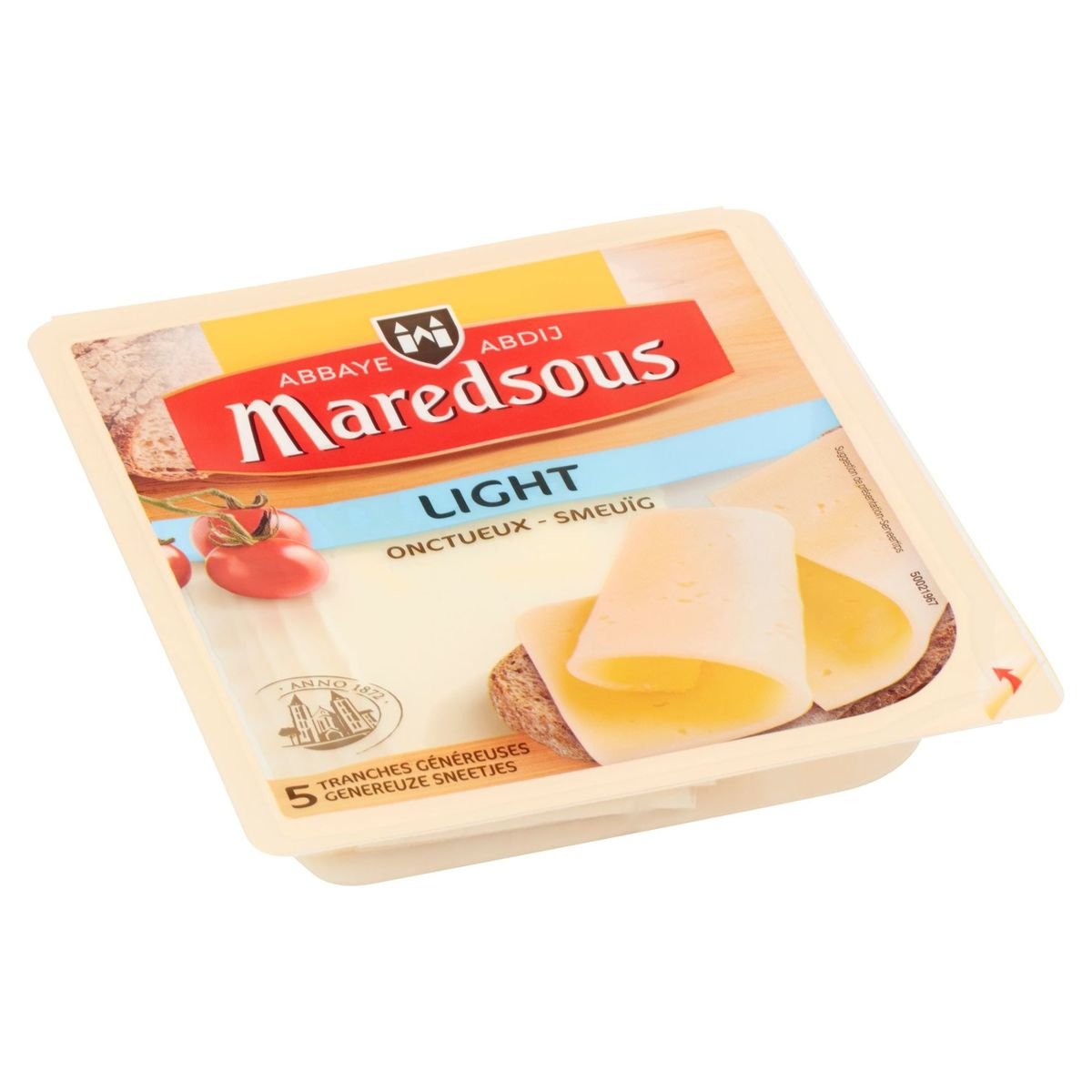 Maredsous Light Onctueux 5 Tranches Généreuses 140 g