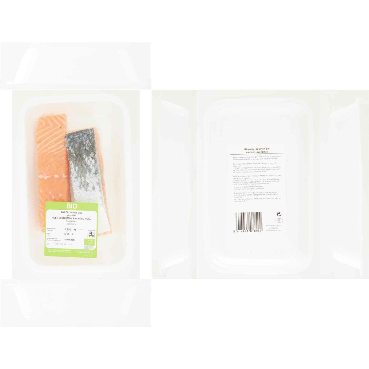 Carrefour Bio Portion Saumon Avec Peau 0.250 kg