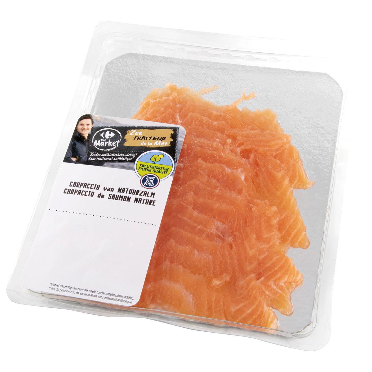 Carrefour FQC Traiteur de la Mer Carpaccio de Saumon Nature 0.12 kg