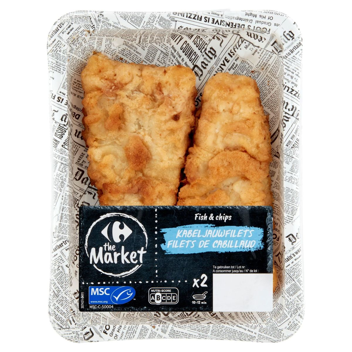 Carrefour Filet de Cabillaud Fish-Chips 2 x 110 g