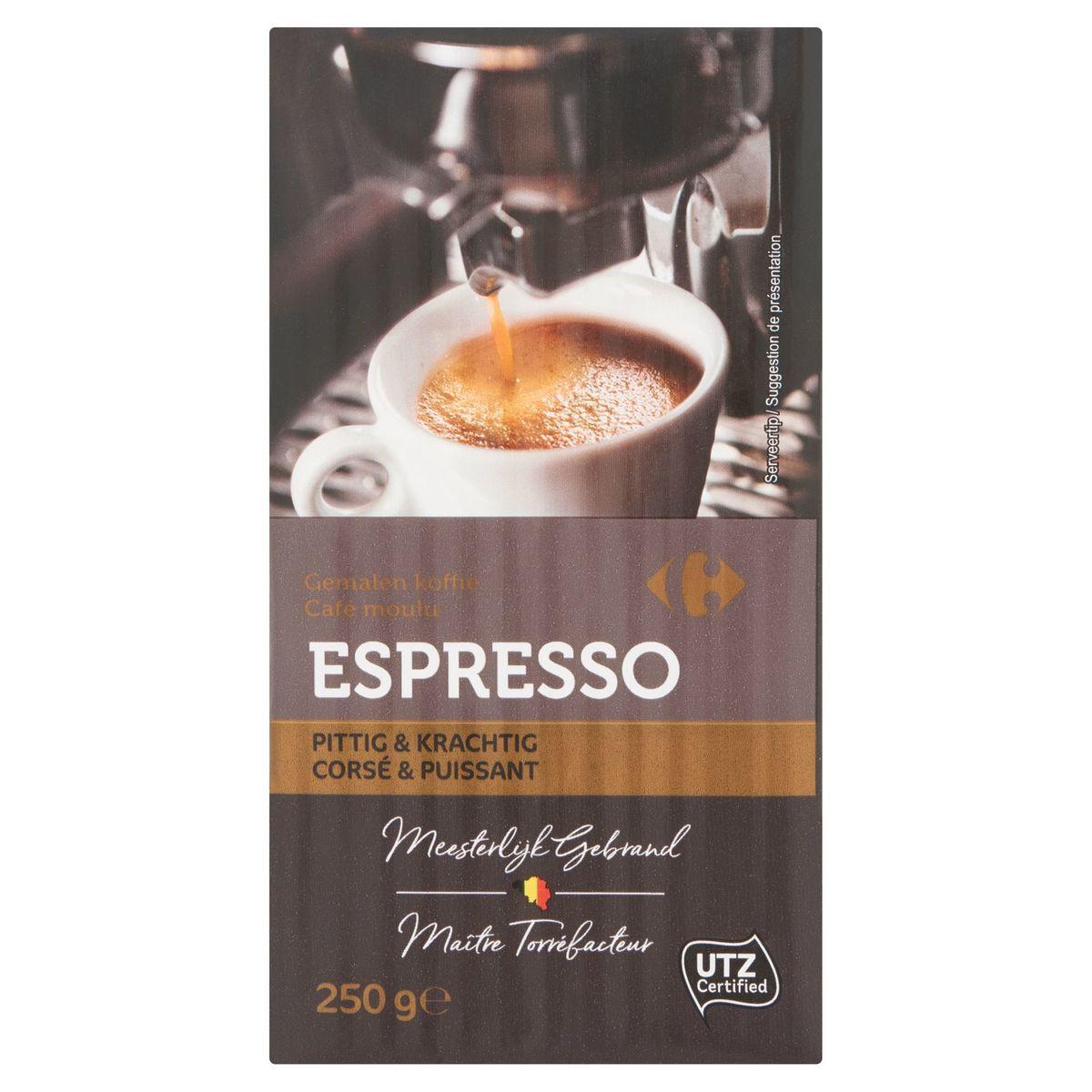 Carrefour Café Moulu Espresso Corsé & Puissant 250 g
