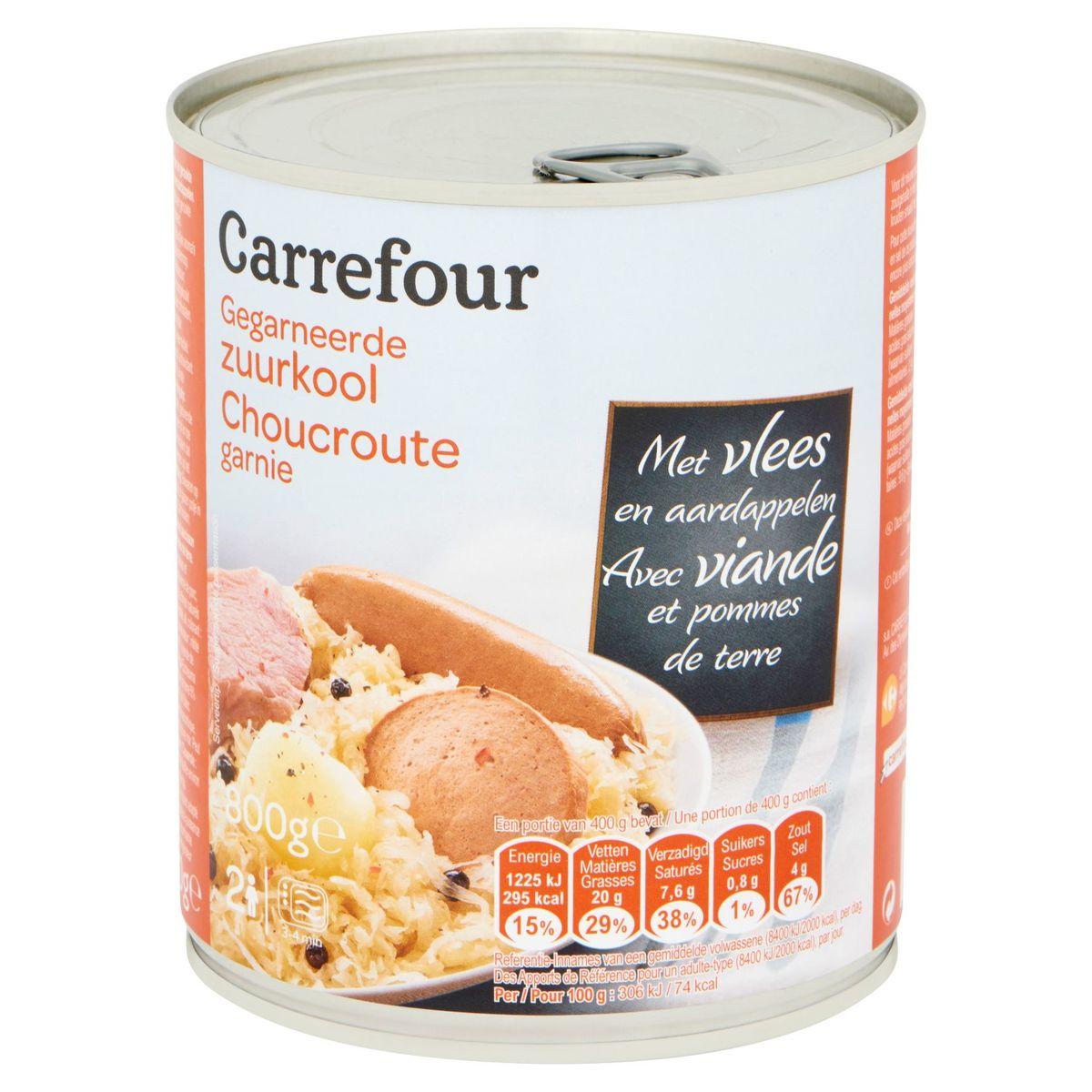 Carrefour Choucroute Garnie avec Viande et Pommes de Terre 800 g
