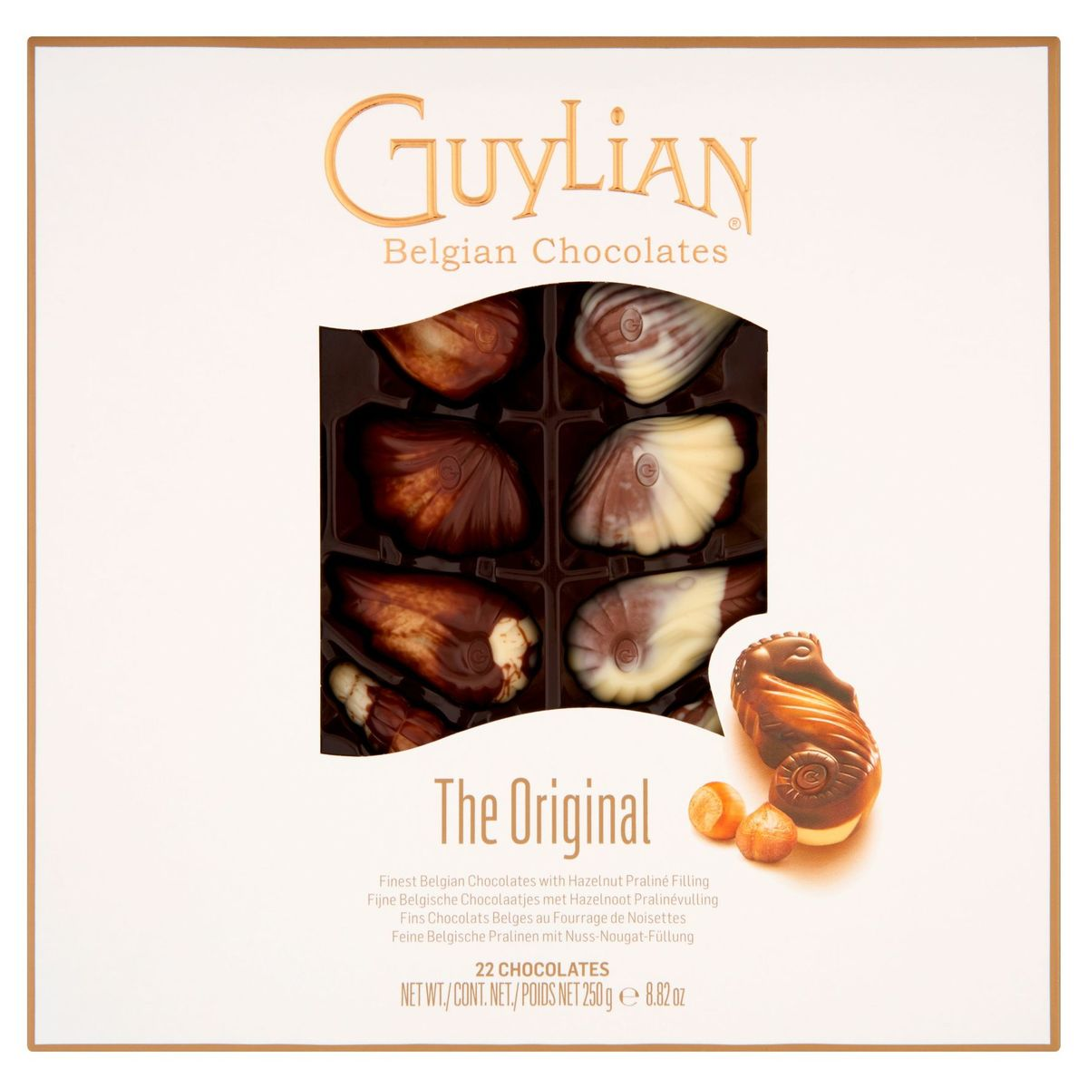 Guylian The Original Fins Chocolats Belges au Fourrage de Noisettes 250 g