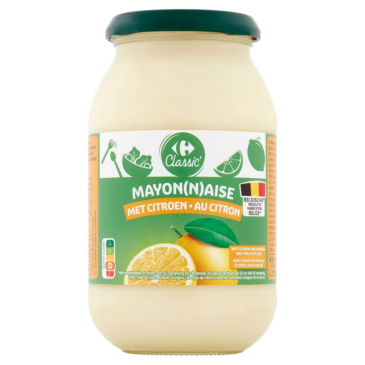 Carrefour Classic' Mayonaise met Citroen 465 g