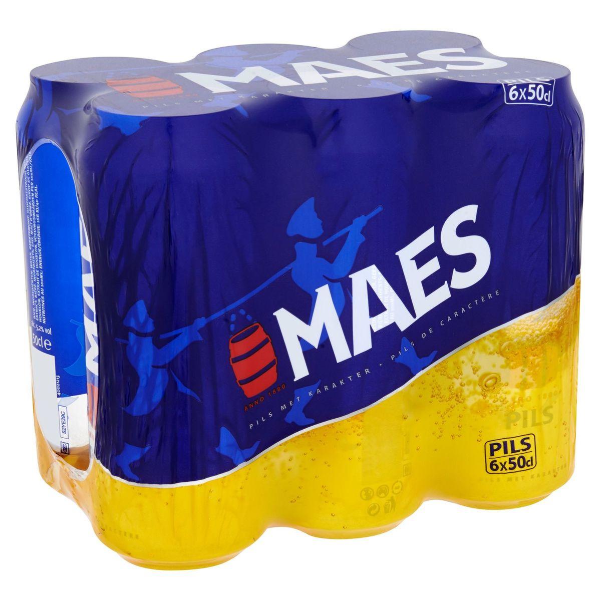 Maes Blond bier Pils 5.2% ALC 6x50cl Blik