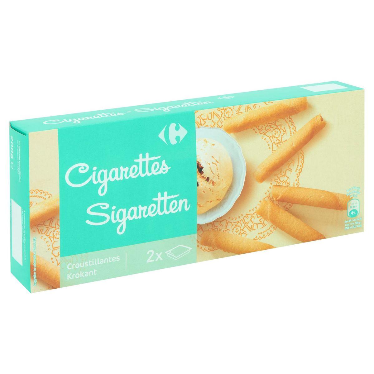 Carrefour Cigarettes Croustillantes 2 x Barquette 200 g