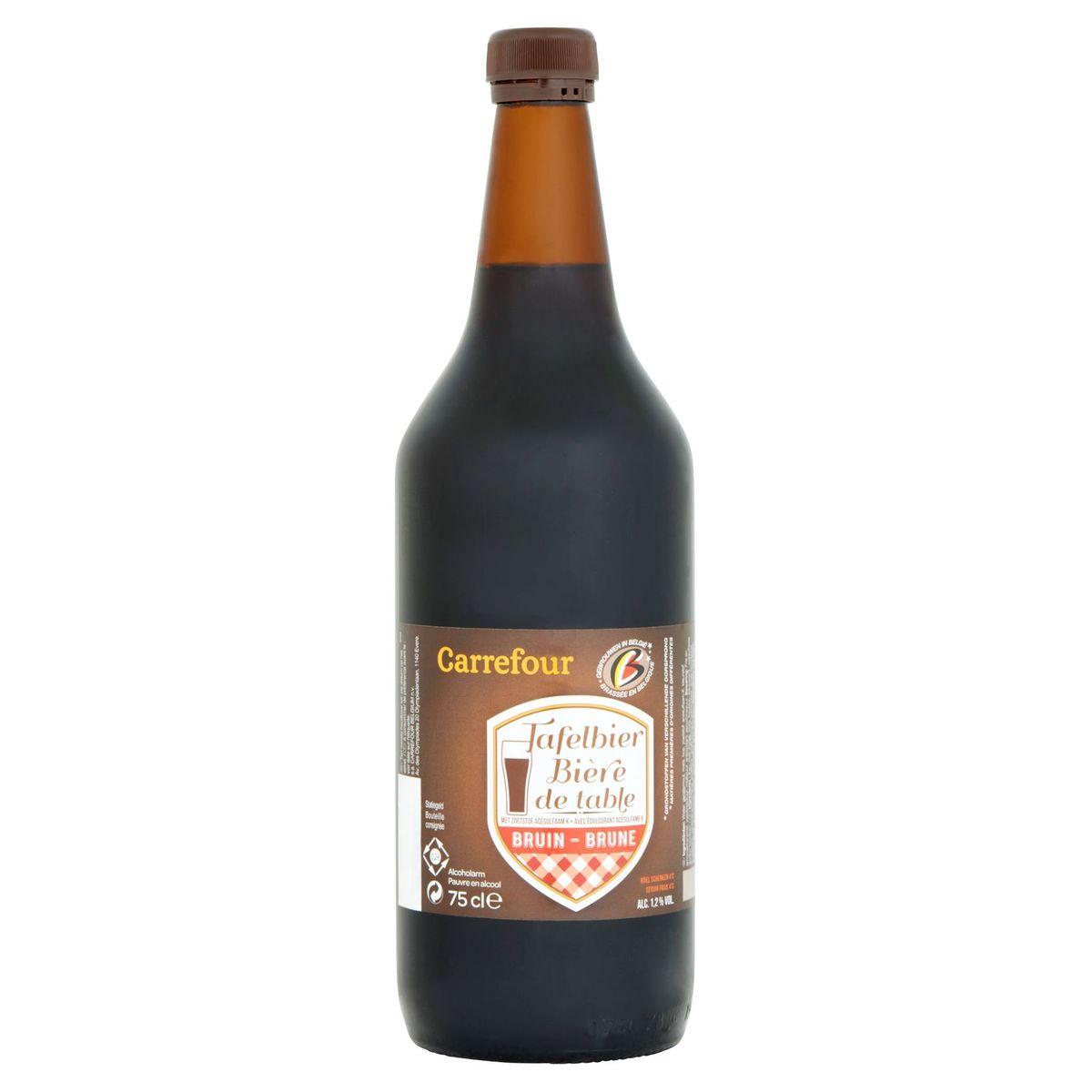 Carrefour Bière de Table Brune Bouteille 75 cl