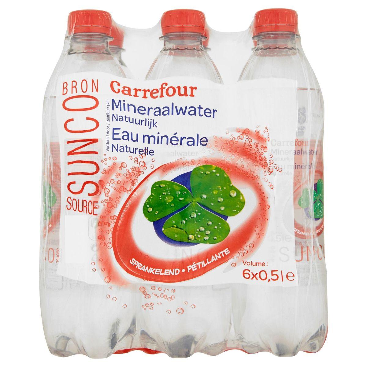 Carrefour Eau Minérale Naturelle Pétillante 6 x 0.5 L
