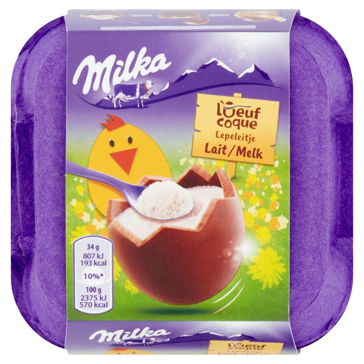Milka l'Oeuf Coque Lait 4 x 34 g