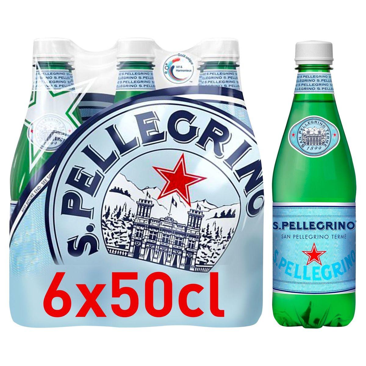 S.PELLEGRINO® Licht Bruisend Natuurlijk Mineraalwater 6 x 0.5 L