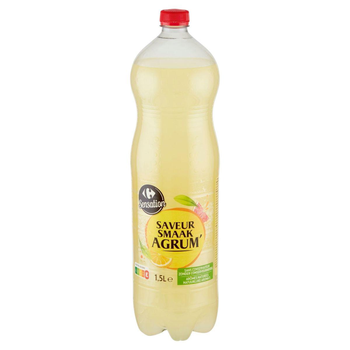 Carrefour Saveur Agrumes Soda avec Sucre et Edulcorants 1.5 L