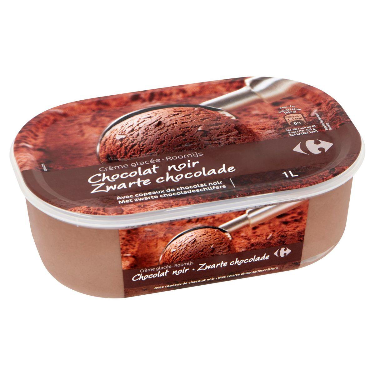 Carrefour Crème Glacée Chocolat Noir 500 g