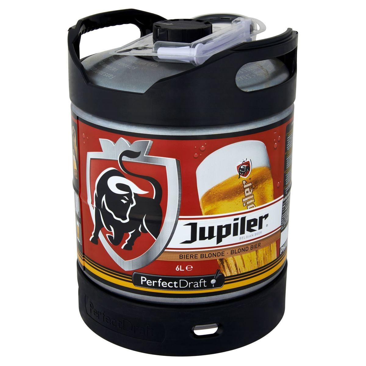 Jupiler Perfect Draft Blond Bier Tapvat 6 L