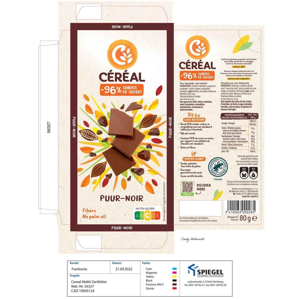 Céréal Minder Suikers Puur 80 g