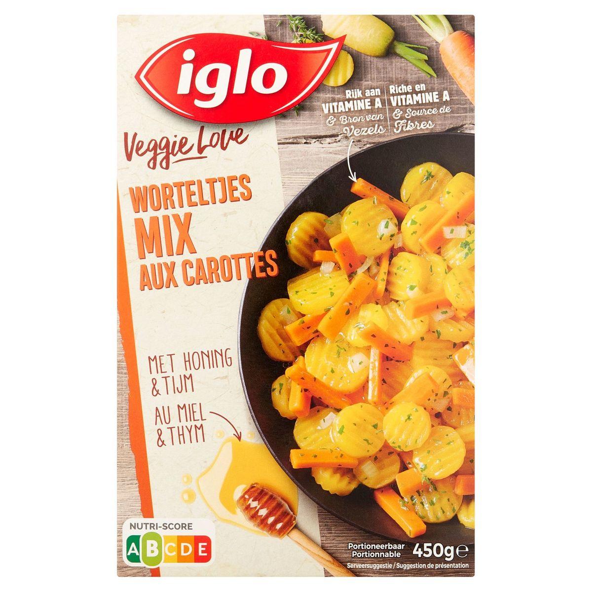 Iglo Veggie Love Mix de Carottes au Miel et Thym 450 g