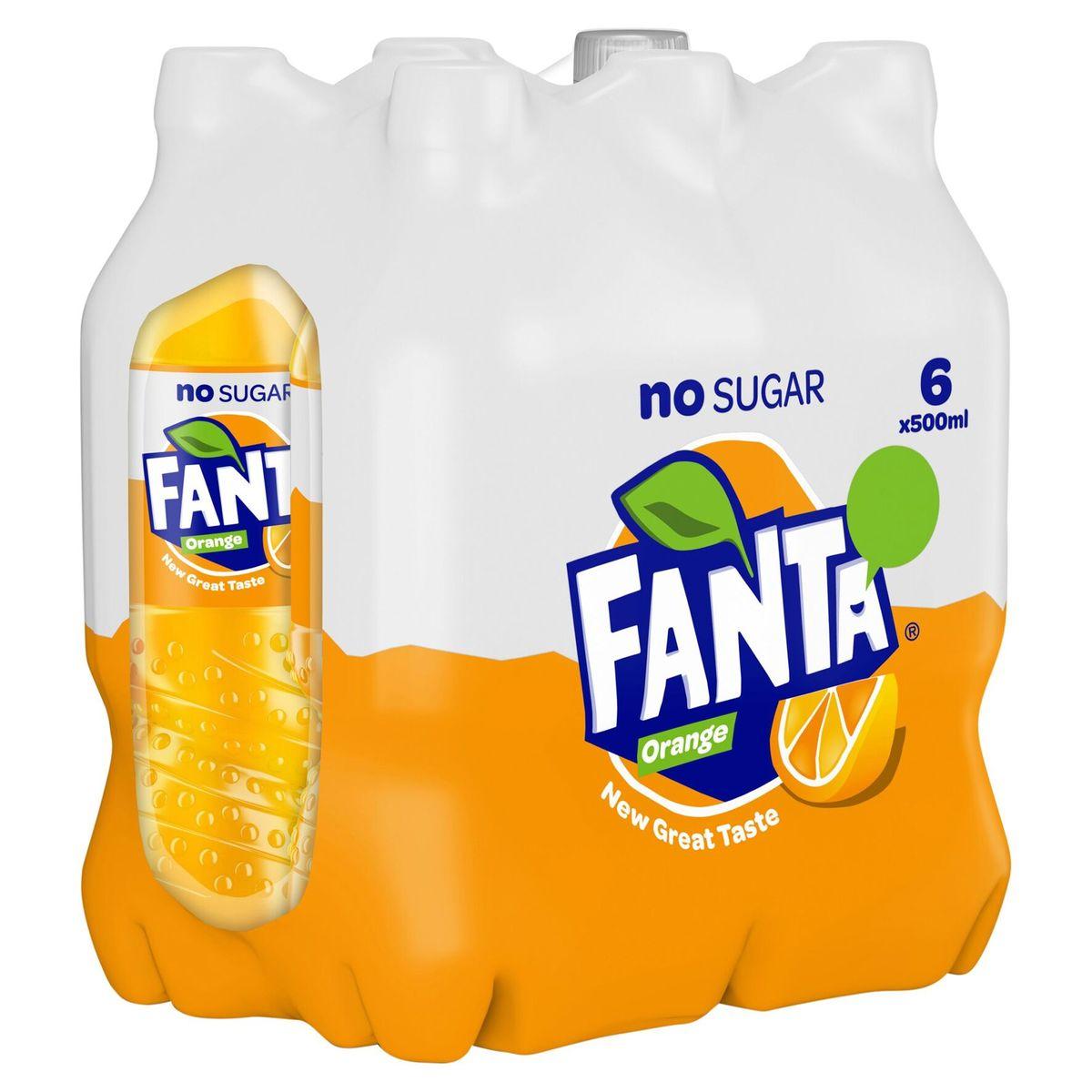 Fanta Orange Zero 6 x 500 ml