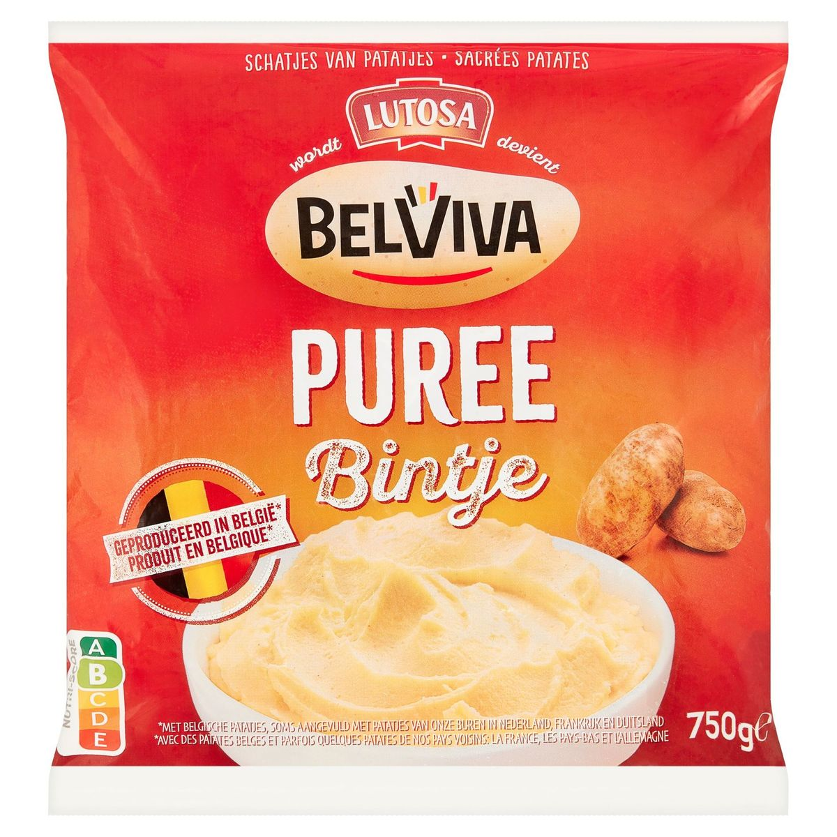 Lutosa wordt Belviva - Bintje Aardappelpuree 750 g