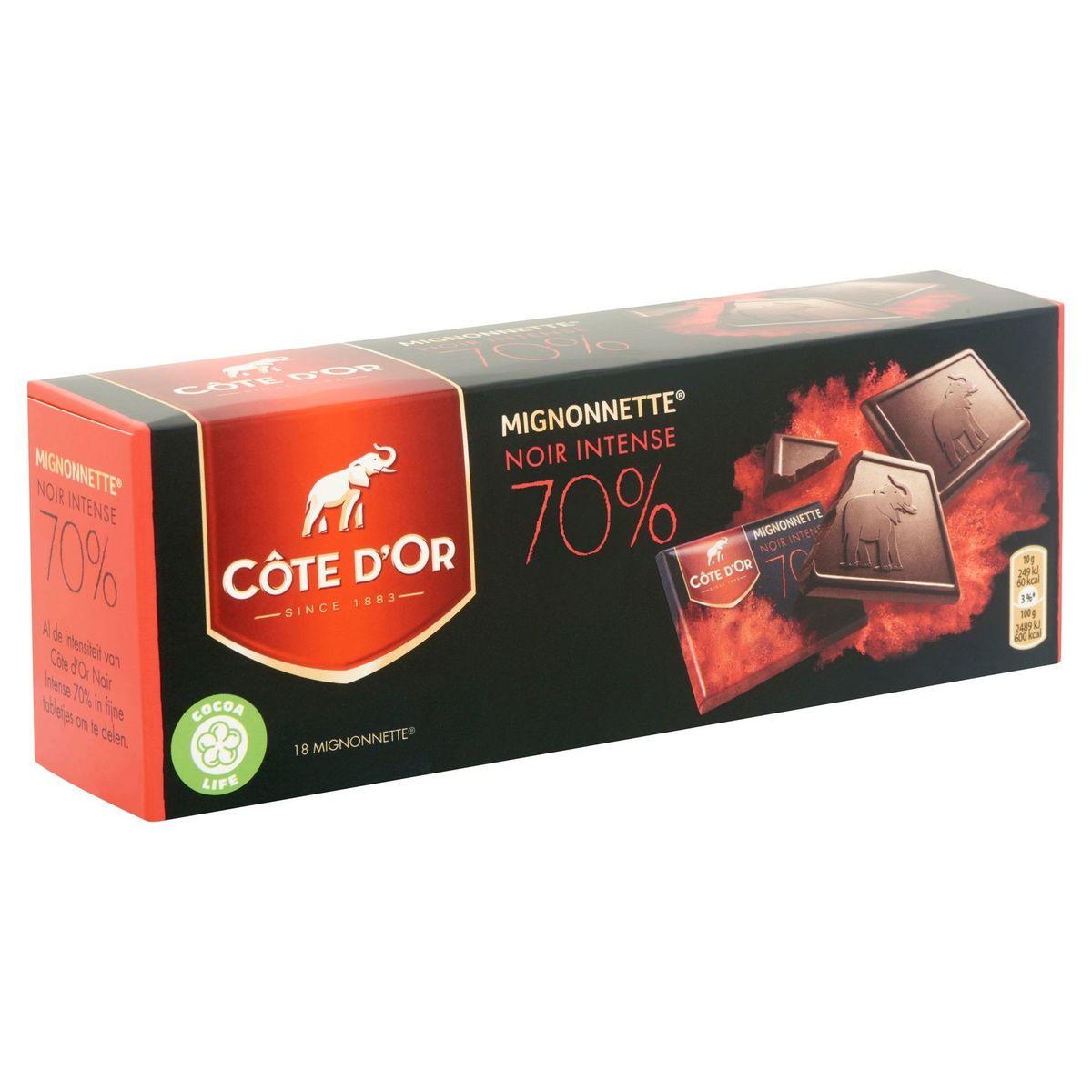 Côte d'Or Mignonnette Noir Intense 70% 18 Pièces 180 g
