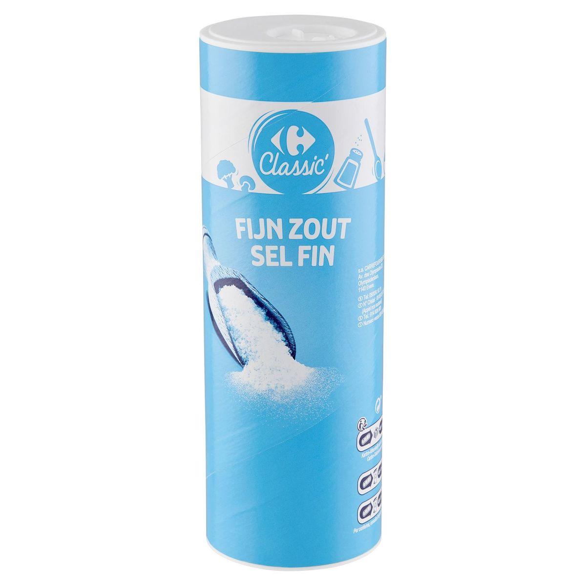 Carrefour Classic' Fijn Zout 750 g