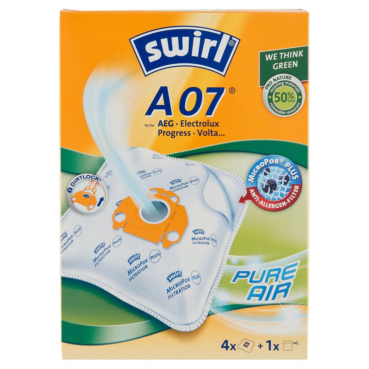 Swirl A07 Sacs aspirateur