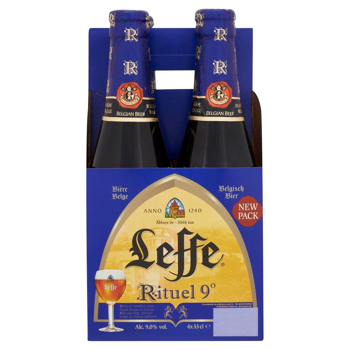 Leffe Rituel 9° Belgisch Bier Flessen 4 x 33 cl