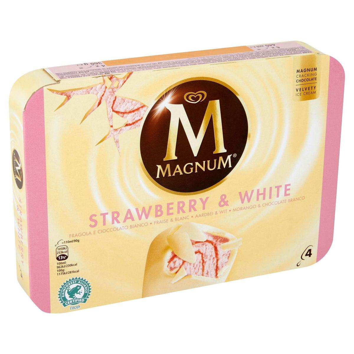 Magnum Ola Multipack Ijs Strawberry White 4 x 110 ml