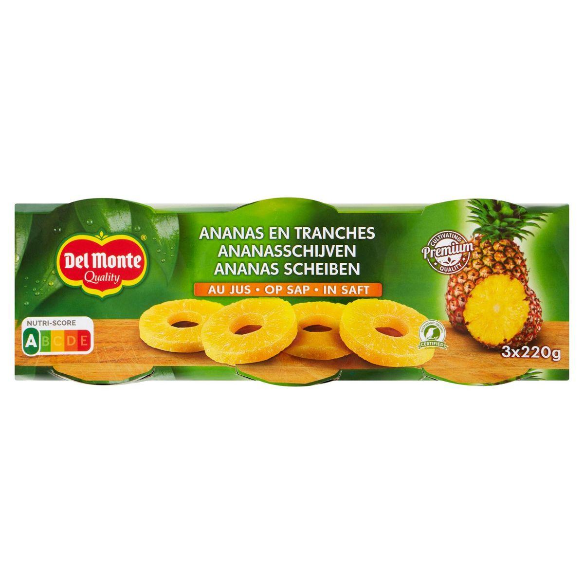 Del Monte Ananasschijven op Siroop 3 x 235 g