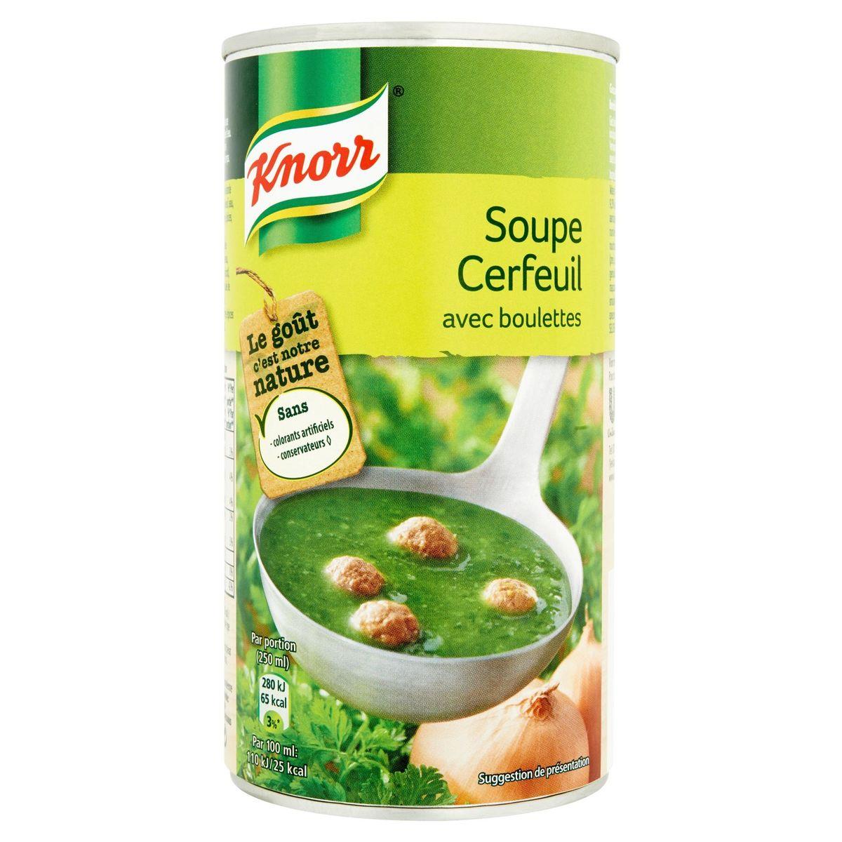 Knorr Blik Soep Kervel en Balletjes 515 ml