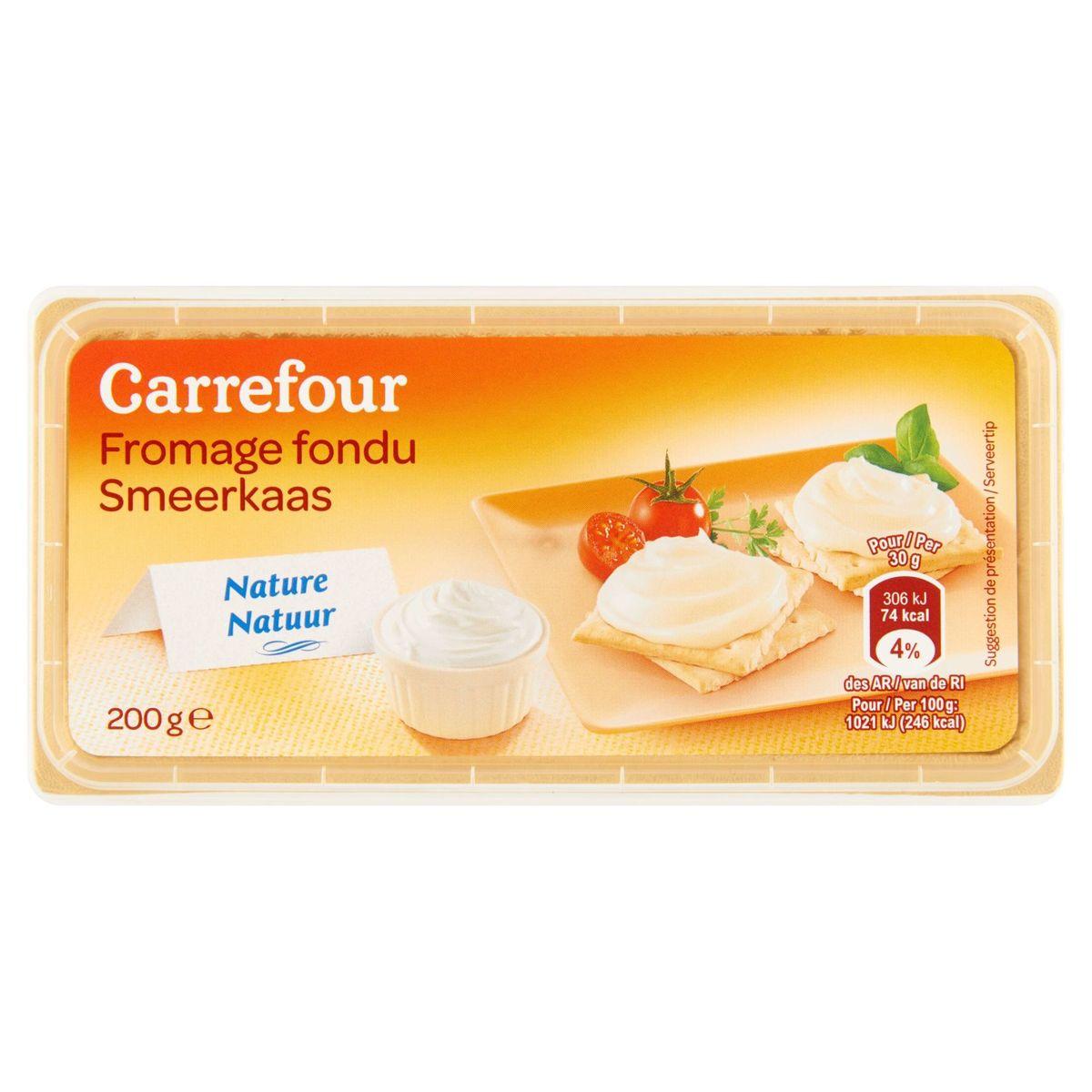 Carrefour Fromage Fondu Nature 200 g