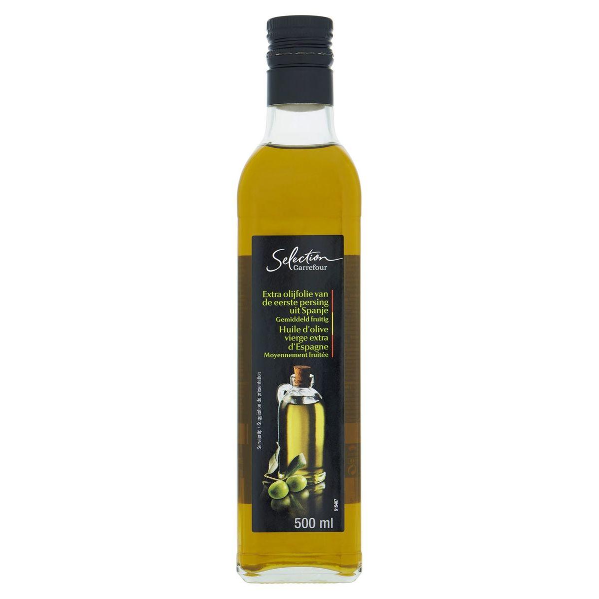 Carrefour Selection Huile d'Olive Vierge Extra d'Espagne Moyennement Fruitée 500 ml