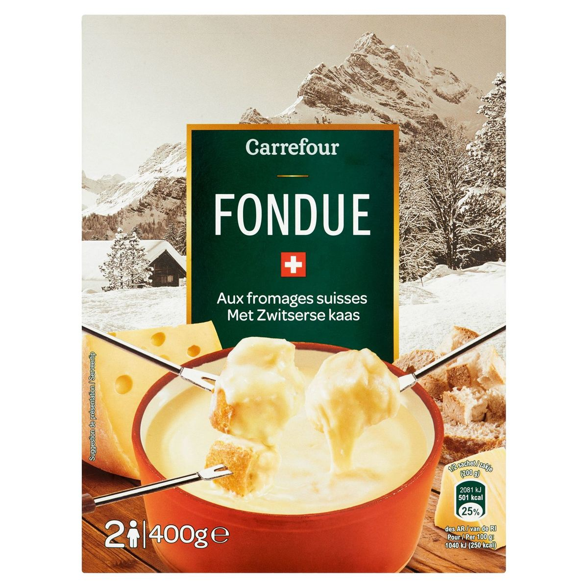 Carrefour Fondue met Zwitserse Kaas 400 g