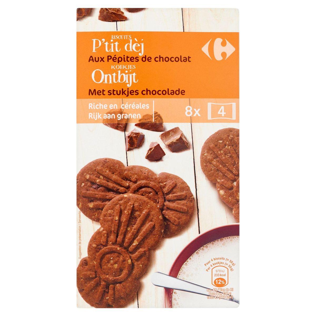 Carrefour Biscuits P'tit Dèj aux Pépites de Chocolat 400 g